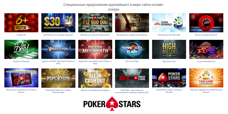 Акции и бонусы PokerStars