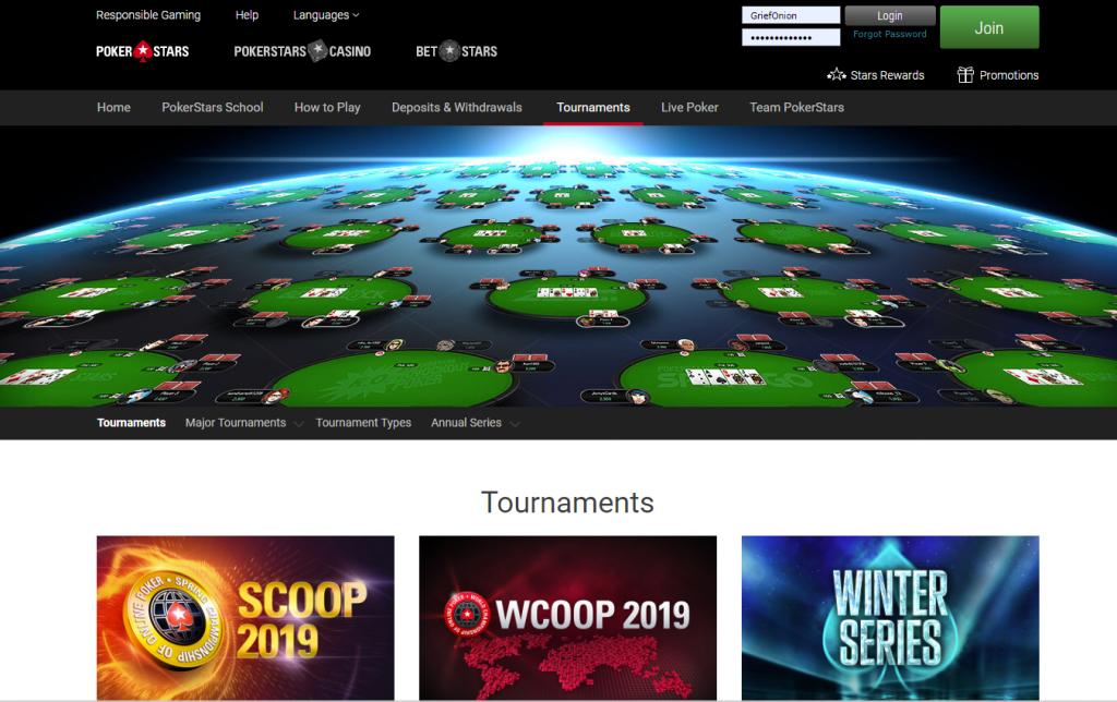 Турнирные соревнования в PokerStars